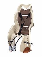 Велосипедное кресло детское Sanbas T HTP design на раму (бежевый)
