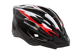 Шолом велосипедний Bravvos HEL127 М (чорно-біло-червоний)