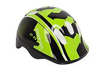 Шлем велосипедный Bravvos HEL096 детский (черно-салатный)