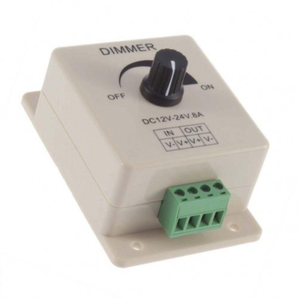 LED диммер светодиодной ленты / лампы 12-24 В, 8 А
