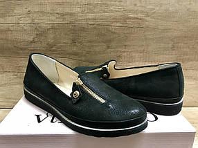 Женские туфли на низком ходу из натуральной кожи  VIKTTORIO, фото 3