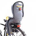 Велокрісло синє TILLY T-821 з установкою позаду сидіння до підсідельної труби, фото 3