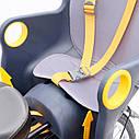 Велокрісло синє TILLY T-821 з установкою позаду сидіння до підсідельної труби, фото 4