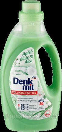 Бесфосфатный гель для стирки светлого белья Denkmit Apfelblüte & Aloe, 1,1 L