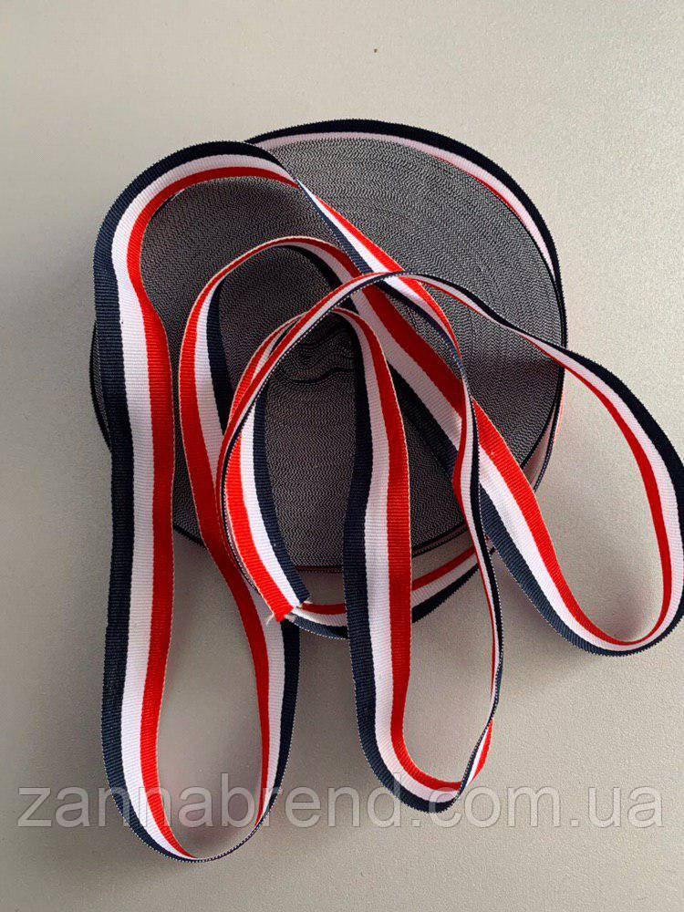 Лента с красной, белой, чёрной полосами