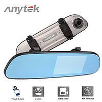 Зеркало видеорегистратор Anytek G77 Full HD 1080P | Видеорегистратор с камерой заднего вида | Авторегистратор