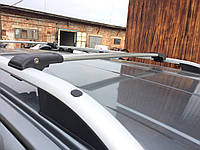 Opel Crossland X Перемычки багажник на рейлинги под ключ Серый