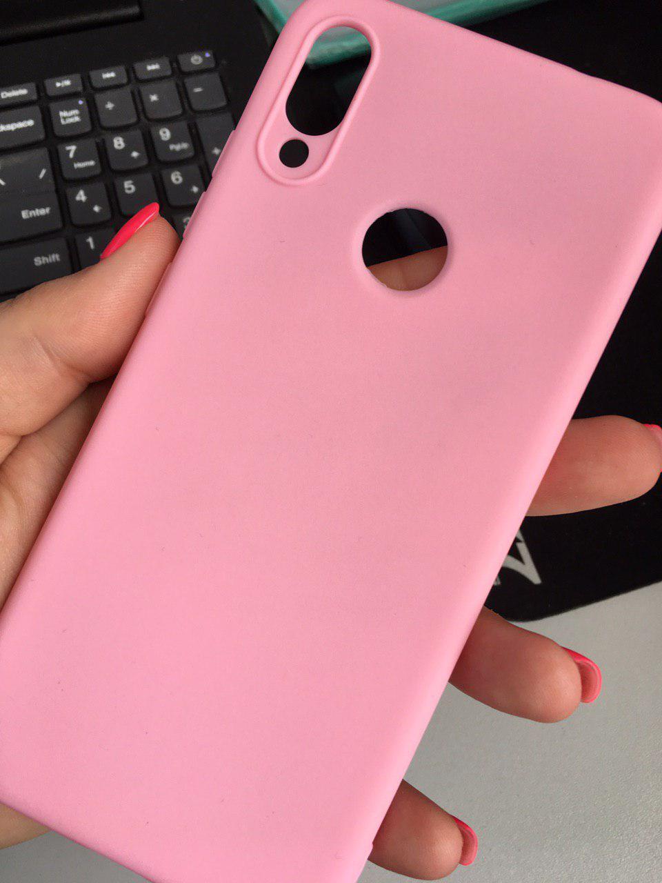 Чехол Candy Silicone для Xiaomi Redmi Note 7 цвет Розовый