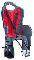 Велосипедное кресло детское Elibas T HTP design на раму (темно-серый)