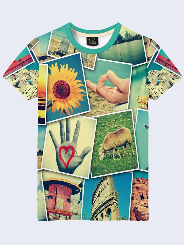 Мужская футболка 3D с ярким принтом тм Vilno