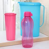 Розовая экобутылочка Tupperware для девочек в наличии
