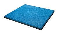 Резиновые плиты для тренажерного зала, для детской площадки 20 мм, голубые