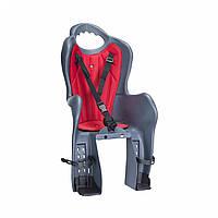 Велосипедное кресло детское Elibas P HTP design на багажник (темно-серый)