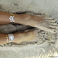 Flash tattoo золотые- серебреные металлические флэш татуировки!, фото 1