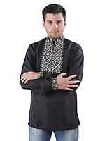 Мужская рубашка вышиванка из 100% льна (в размере S - 3XL)