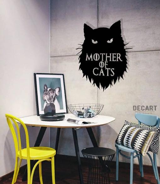 Декоративное панно из дерева Mother of Cats