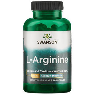 Swanson Premium L-Arginine - Maximum Strength L-Arginine 850 mg 90 капс Супер сильный