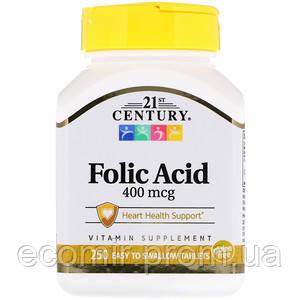 Фолиевая кислота, 21st Century (400 мкг / 250 табл)