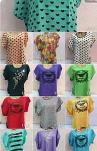Женская кофта блузафутболка батал