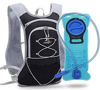 Рюкзак для бега с гидратором для воды 2L Junletu Trail черный