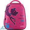 Рюкзак для девочки с ортопедической спинкой Kite Catsline K19-731M-1
