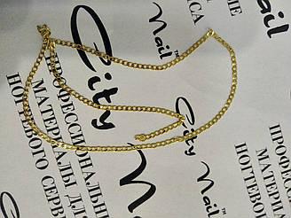 Декоративна металева ланцюжок для манікюру золота