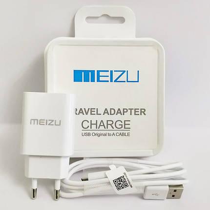Зарядное устройство MEIZU Travel Adapter + кабель micro USB, 2.1A, в коробке, зарядка мейзу шнур микро юсб, фото 2