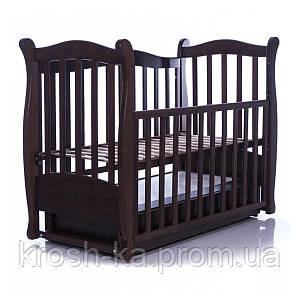 Кровать для новорожденных ЛД15 маятник+ящик (Veres)Верес Украина орех 15.1.1.1.03