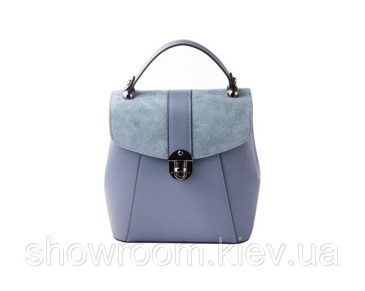Женская кожаная сумка-рюкзак Laura Biaggi (141330) синяя