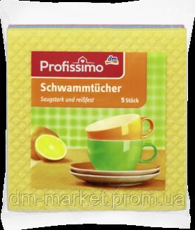 Впитывающая тряпка для кухни Denkmit profissimo Schwammtücher, 5 шт