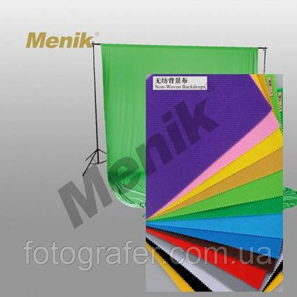 Фоны тканевые 3*6 (белый, черный, зеленый, красный, желтый) ( на складе )