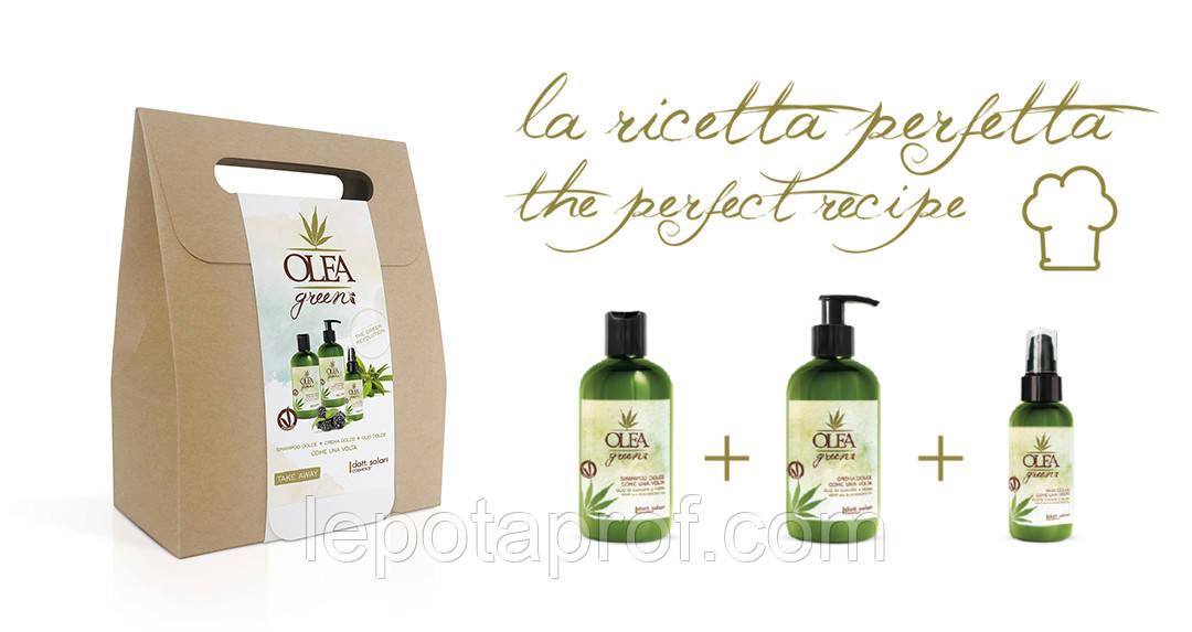 Подарочный набор для волос Dott. Solari Olea Green Dolce Hemp на основе масел конопли и ежевики