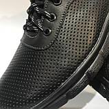 46 р. Чоловічі кросівки шкіряні (Великі розміри) літні з перфорацією Остання пара, фото 8