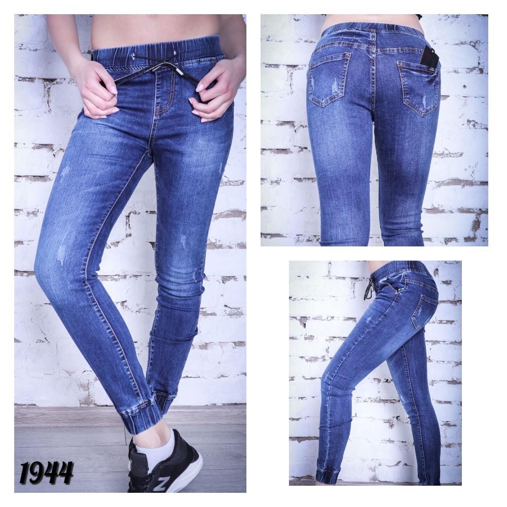 0a8ed21946f Джинсы женские синие на резинке с царапками - Shop Me Now магазин одежды и  обуви в