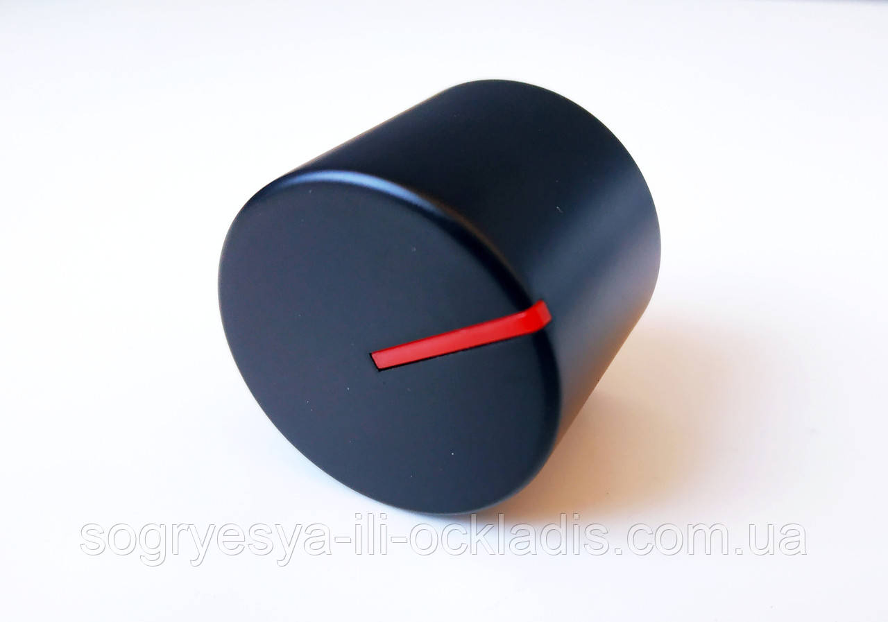 Ручка регулировки на плиту Tefal d- 6 мм (метал, черная) код товара: 7099