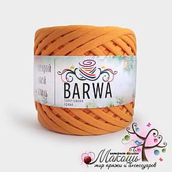 Трикотажная пряжа Барва, 3-5 мм, абрикос