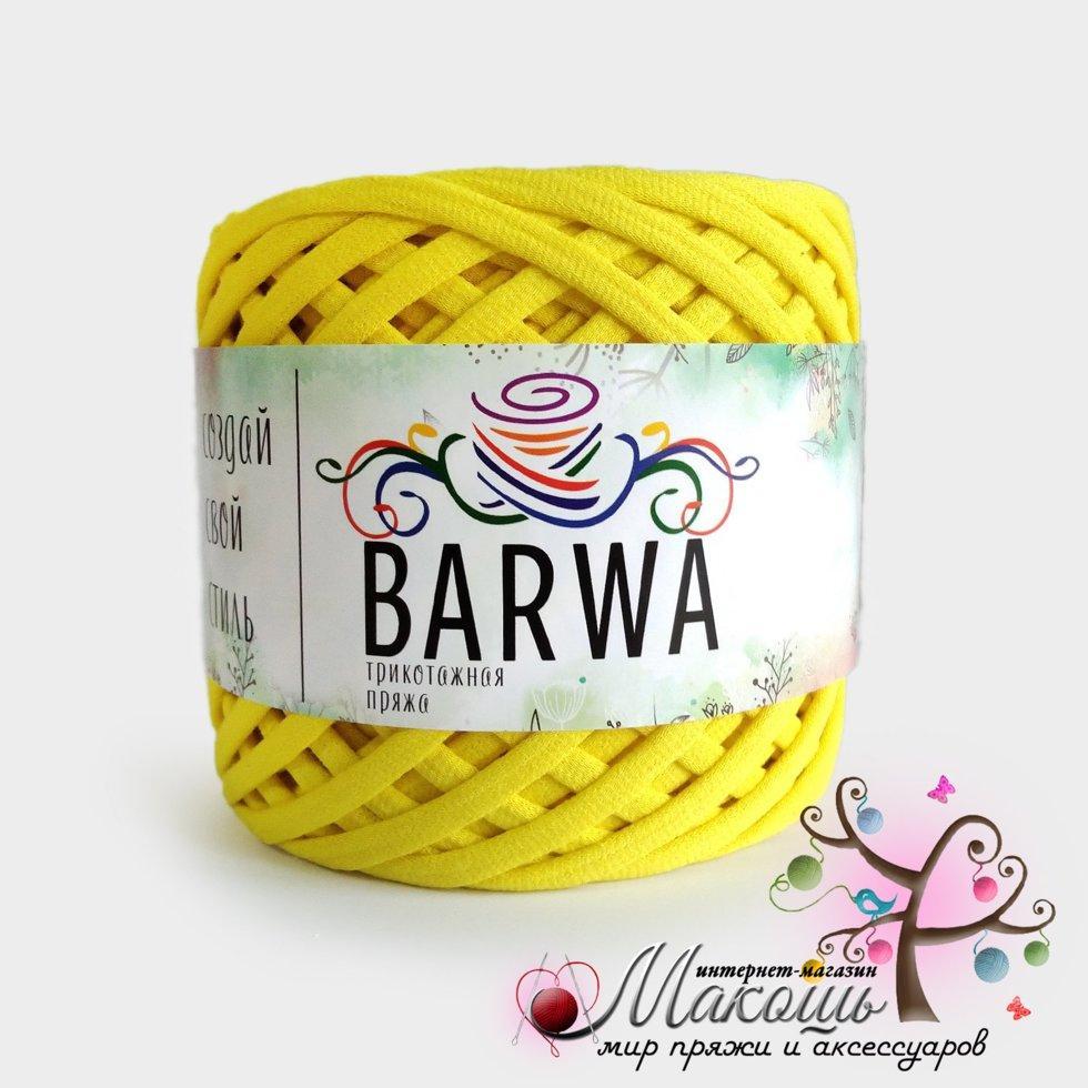 Трикотажная пряжа Барва, 3-5 мм, лимон