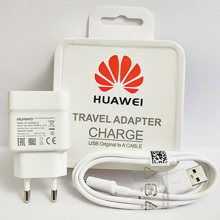 Зарядное устройство HUAWEI Travel Adapter + кабель micro USB, 2 A, в коробке, зарядка хуавей шнур хуавэй, фото 2