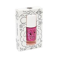 Детский лак для ногтей Nailmatic, цвет Glitter Raspberry (малиновый с блестками), фото 1