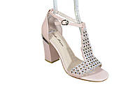 Кожаные босоножки на каблуке Lady Marcia