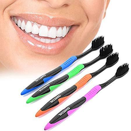 Набор зубных щеток с углем Nano Dental Care Toothbrush Charcoal 4 шт