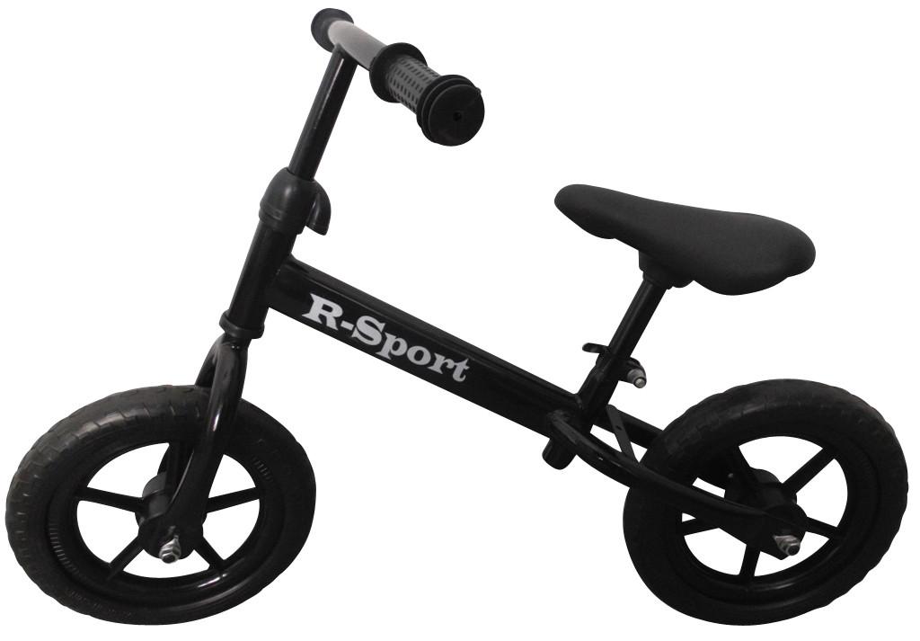 Беговел детский на 2 3 4 года R-Sport колеса 12 пена черный