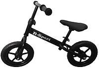Беговел детский на 2 3 4 года R-Sport колеса 12 пена черный, фото 1