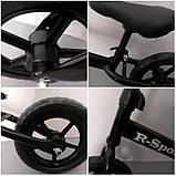 Беговел R-Sport колеса 12 пена черный, фото 3