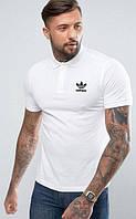 Адидас футболка мужская ,тенниска спортивная adidas ,поло футболка белая ,как оригинал