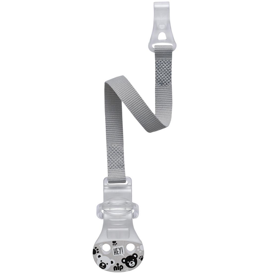 Держатель для пустышки с кольцом Nip Серый (37001) (150261)