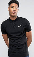 Футболка, поло, тенниска NIKE Style, черная, Найк, топ реплика