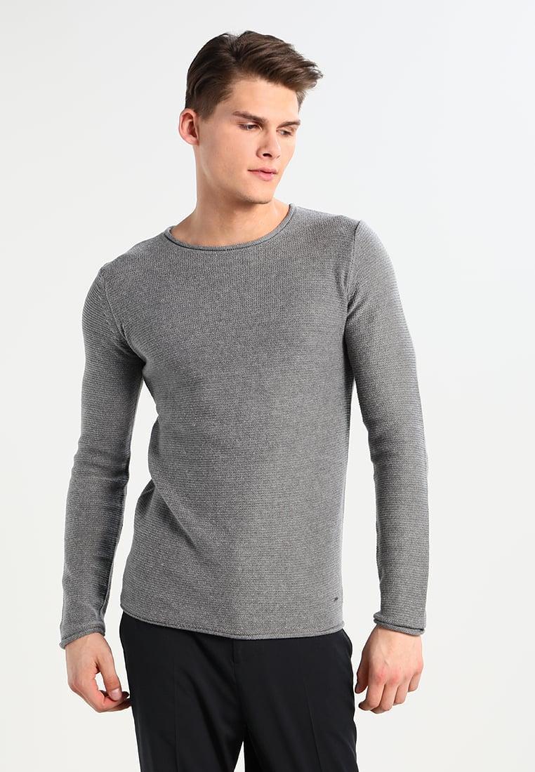 мужской вязаный свитер Jarah Grey Mel от Solid в размере S в