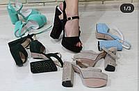 Босоножки женские на устойчивом каблуке RS 1766/5 разные цвета, фото 1