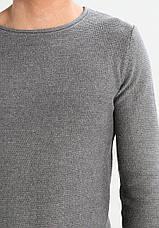 Чоловічий в'язаний джемпер Jarah Grey від Mel !Solid в розмірі L, фото 3